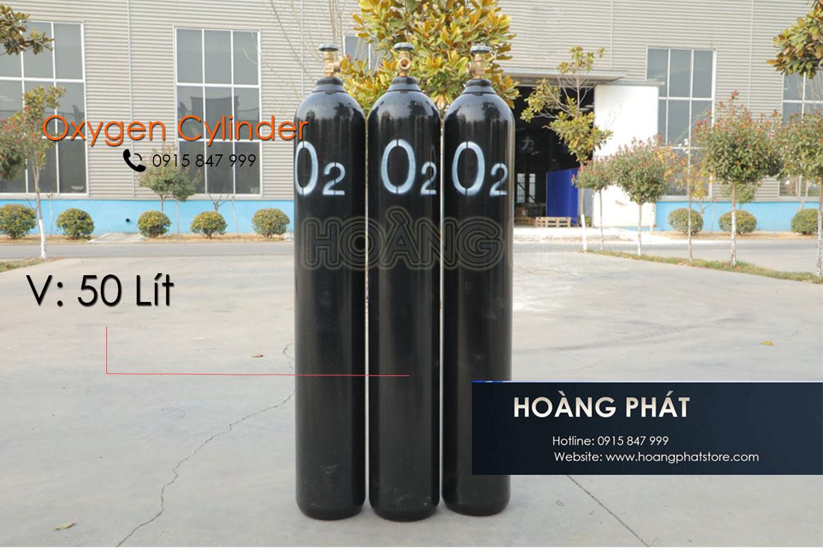 Bình khí Oxy tinh khiết 5.0 (99.999%)